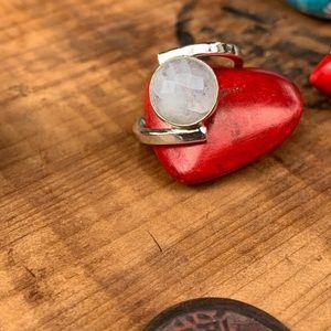 fire monkey Jewelry - ✨RUSTIC BOHO MOONSTONE + SILVER RING 8.75✨